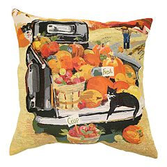 Celebrate Fall Together Pumpkin Truck Throw Pillow
