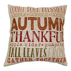 Celebrate Fall Together Fall Words Throw Pillow