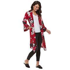 Women's Jennifer Lopez Floral Chiffon Kimono