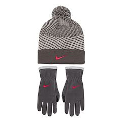 Girls 7-16 Nike Hazard Knit Beanie & Fleece Gloves Set