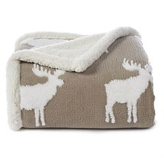 Cuddl Duds Jacquard Sherpa Fleece Throw
