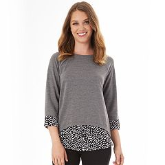 Women's Apt. 9® French Terry Mock Layer Top