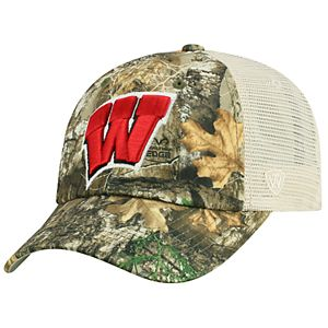 Adult Top of the World Wisconsin Badgers Realtree Sentury Cap