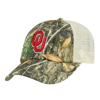 Adult Top of the World Oklahoma Sooners Realtree Sentury Cap