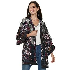 Women's Jennifer Lopez Lace Floral Kimono