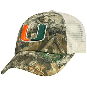 Adult Top of the World Miami Hurricanes Realtree Sentury Cap