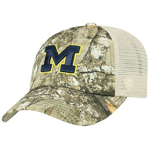 Adult Top of the World Michigan Wolverines Realtree Sentury Cap