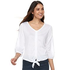 Women's French Laundry Tie-Front Top