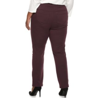 Plus Size Napa Valley Super Stretch MidRise Pull-On Pants