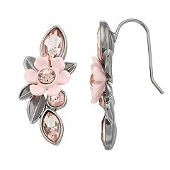 Simply Vera Vera Wang Simulated Crystal Flower Drop Earrings