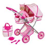Lissi 13-in. Baby Doll & Diana Pram Stroller Set