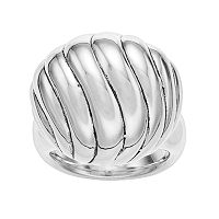 Sterling Silver Electroform Textured Ball Ring