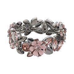 Simply Vera Vera Wang Simulated Crystal Floral Stretch Bracelet
