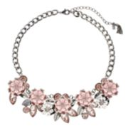 Simply Vera Vera Wang Pink Flower Statement Necklace