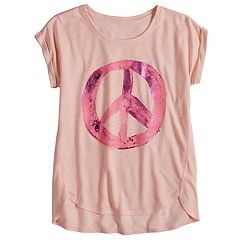Girls 7-16 & Plus Size Mudd® Easy Roll Cuff Graphic Tee
