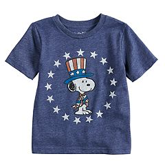 Toddler Boy Jumping Beans® Peanuts Snoopy Patriotic Stars Graphic Tee