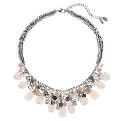 Simply Vera Vera Wang Pink Bead Statement Necklace