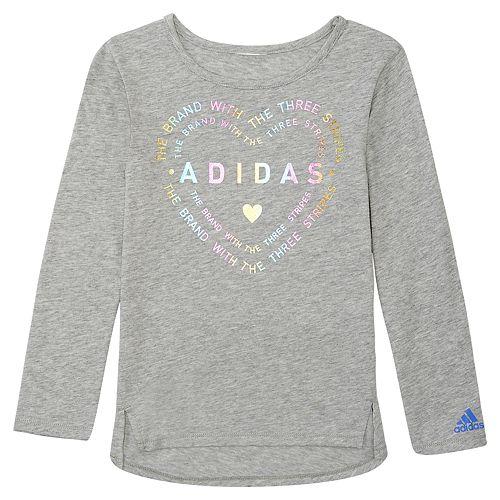 Girls 4-6x adidas Heart Logo Graphic Tee