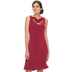 Women's Jennifer Lopez Strappy Fit & Flare Dress