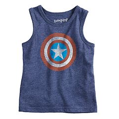 Toddler Boy Jumping Beans® Marvel Captain America Logo Tank Top