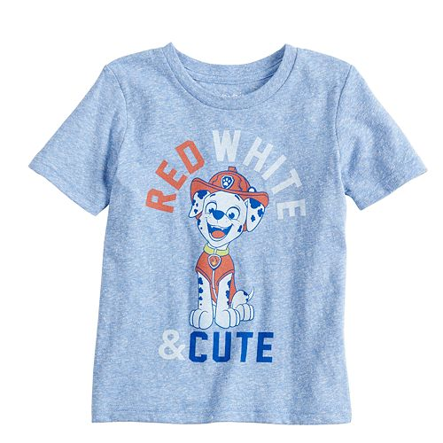 "Baby Boy Jumping Beans® Paw Patrol Marshall ""Red, White & Cute"" Graphic Tee"