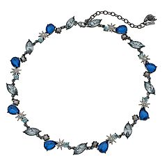 Simply Vera Vera Wang Blue Faceted Stone Cluster Necklace