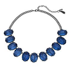 Simply Vera Vera Wang Oval Blue Faceted Stone Necklace