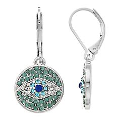 Simply Vera Vera Wang Simulated Crystal Evil Eye Drop Earrings