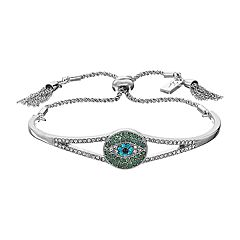 Simply Vera Vera Wang Simulated Crystal Evil Eye Slider Cuff Bracelet