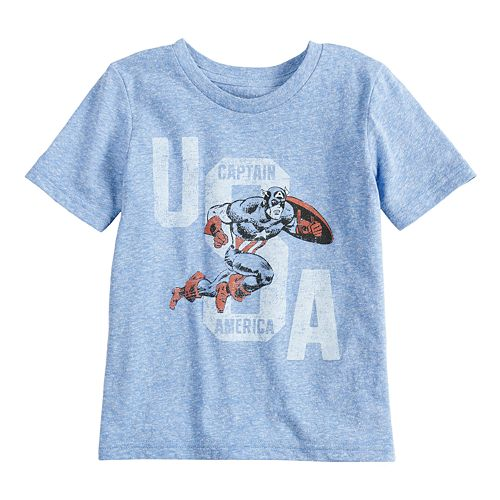 """Baby Boy Jumping Beans® Marvel Captain America """"USA"""" Graphic Tee"""