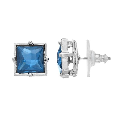 Simply Vera Vera Wang Simulated Crystal Square Stud Earrings