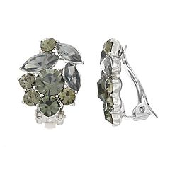 Simply Vera Vera Wang Simulated Crystal Cluster Clip-On Earrings