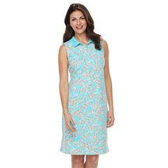 Women's Croft & Barrow® Print Polo Dress