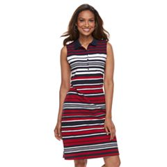 Women's Croft & Barrow® Print Polo Dress