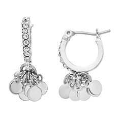 Simply Vera Vera Wang Simulated Crystal Disc Drop Earrings