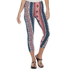 6842fb659cf52 Women's French Laundry Printed Capri Leggings
