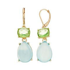 Dana Buchman Double Teardrop Earrings