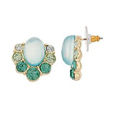 Dana Buchman Cabochon Button Stud Earrings