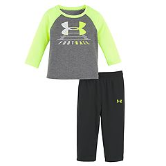 Toddler Boy Under Armour 2-pc. 'Football' Raglan Tee & Pants Set