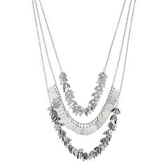 Simply Vera Vera Wang Circle & Marquise Disc Multistrand Necklace