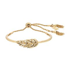 Simply Vera Vera Wang Feather Bolo Bracelet