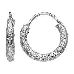 Simply Vera Vera Wang Hammered Hoop Earrings