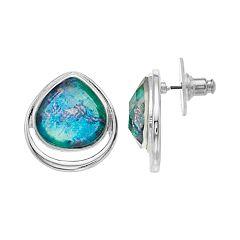 Dana Buchman Blue Teardrop Stud Earrings