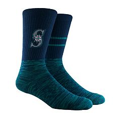 Men's Seattle Mariners Block Crew Socks