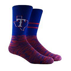 Men's Texas Rangers Block Crew Socks