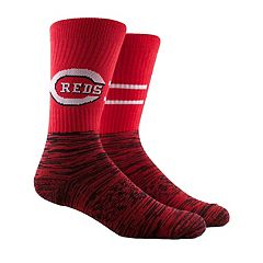 Men's Cincinnati Reds Block Crew Socks