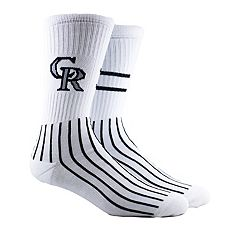 Men's Colorado Rockies Block Crew Socks