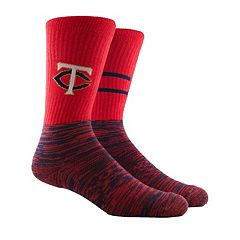 Men's Minnesota Twins Block Crew Socks