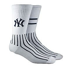 Men's New York Yankees Block Crew Socks