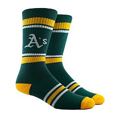 Men's Oakland Athletics Striped Crew Socks